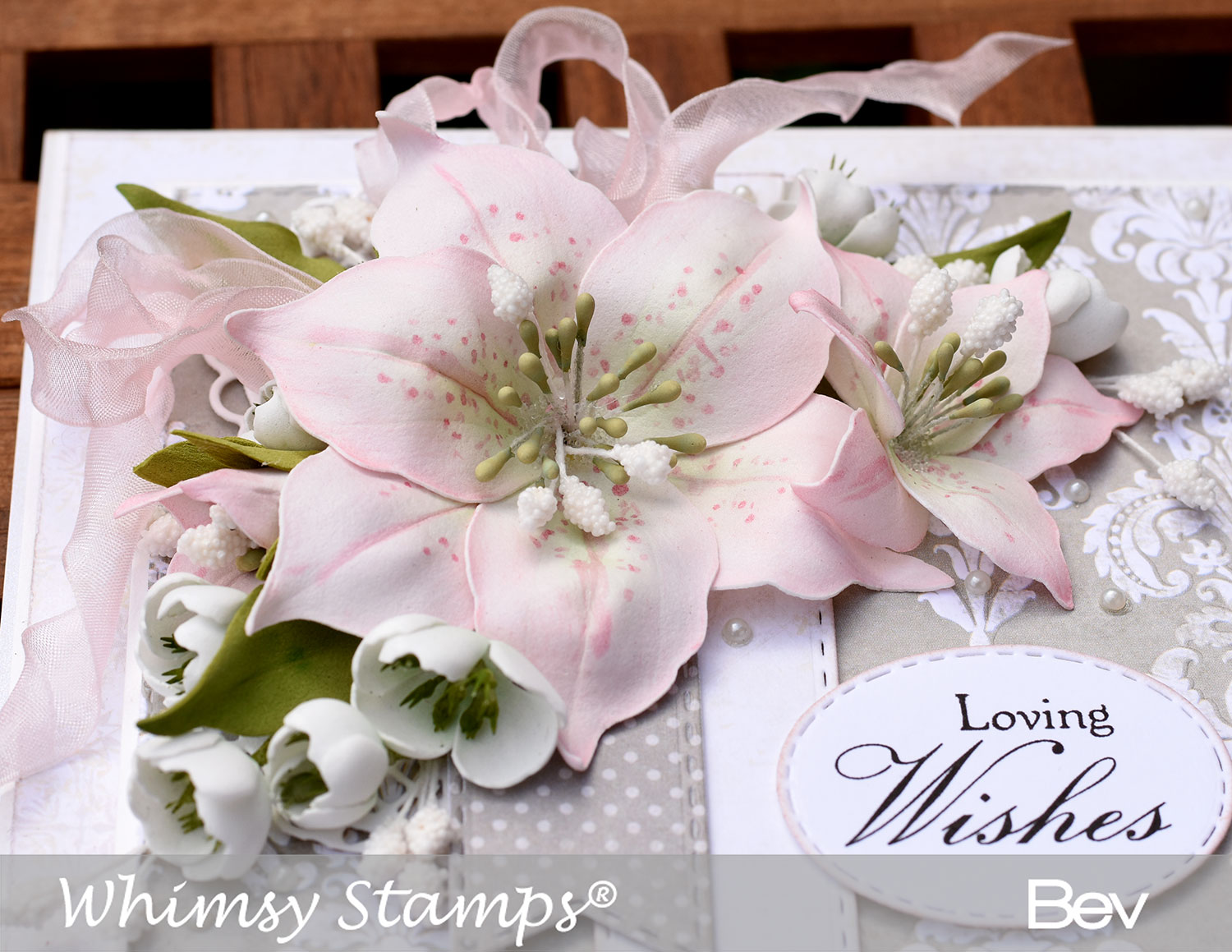 All the things i love new lily die set whimsy stamps august release a closer look at the flowers which i coloured with oil pastels and then used a copic marker to create the dots on the petals izmirmasajfo