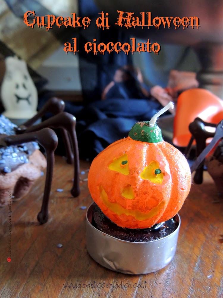 Cupcake di Halloween al cioccolato - www.lapasticceriadichico.it