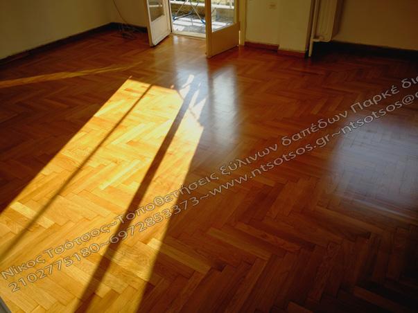 ψαροκόκαλο ξύλινο πάτωμα σατινέ