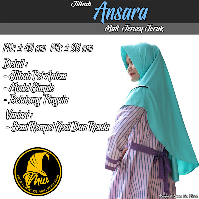 Jilbab Jersey Jeruk Model Simple Varisi Semi Rempel Kecil