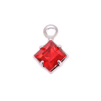 Swarovski Xilion Square Fancy Crystal (Ruby - JULY)