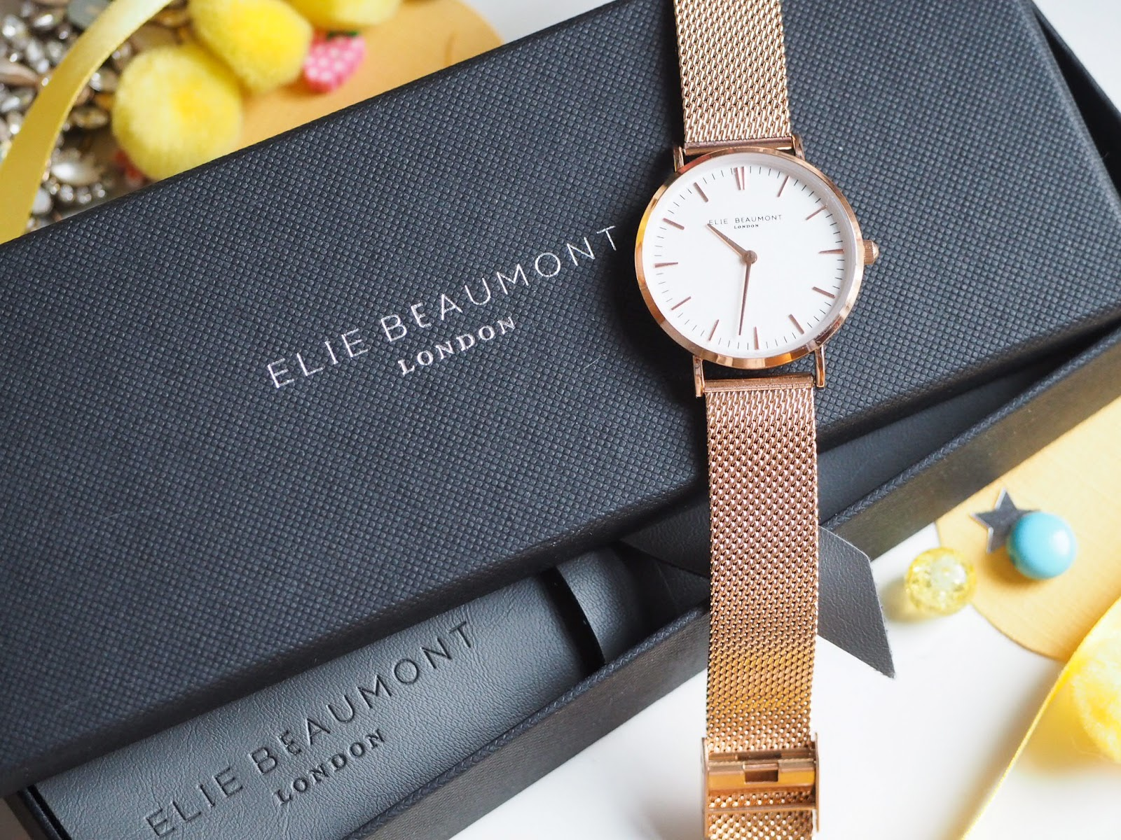 Elie Beaumont: Oxford Small Mesh Watch (Gold)*