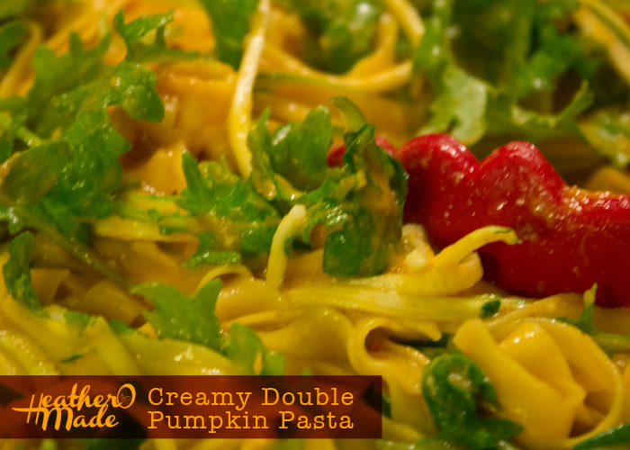 creamy double pumpkin pasta recipe