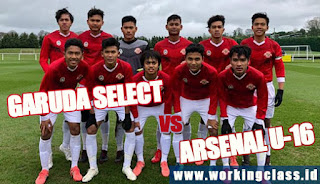 Live Streaming Garuda Select vs Arsenal U-16