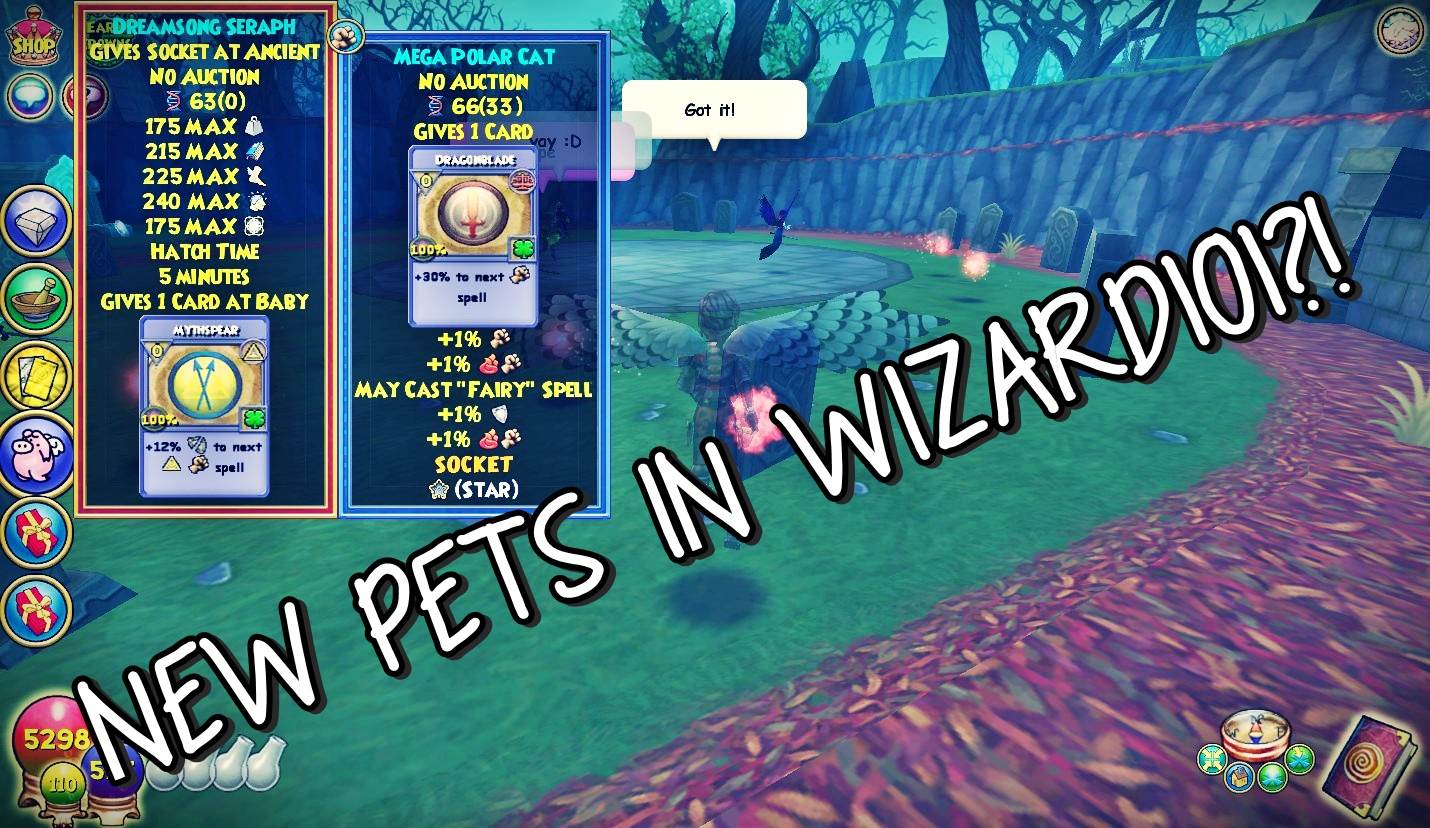 New Pets In Wizard101 Stars Of The Spiral