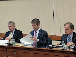 L-R Attny Mark Cerel, Deputy Admin Jamie Hellen, Town Administrator Jeff Nutting