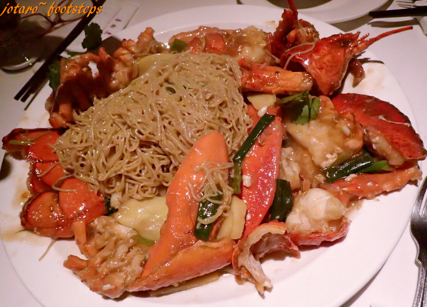 Footsteps Jotaro S Travels Yummy Lobster Noodles