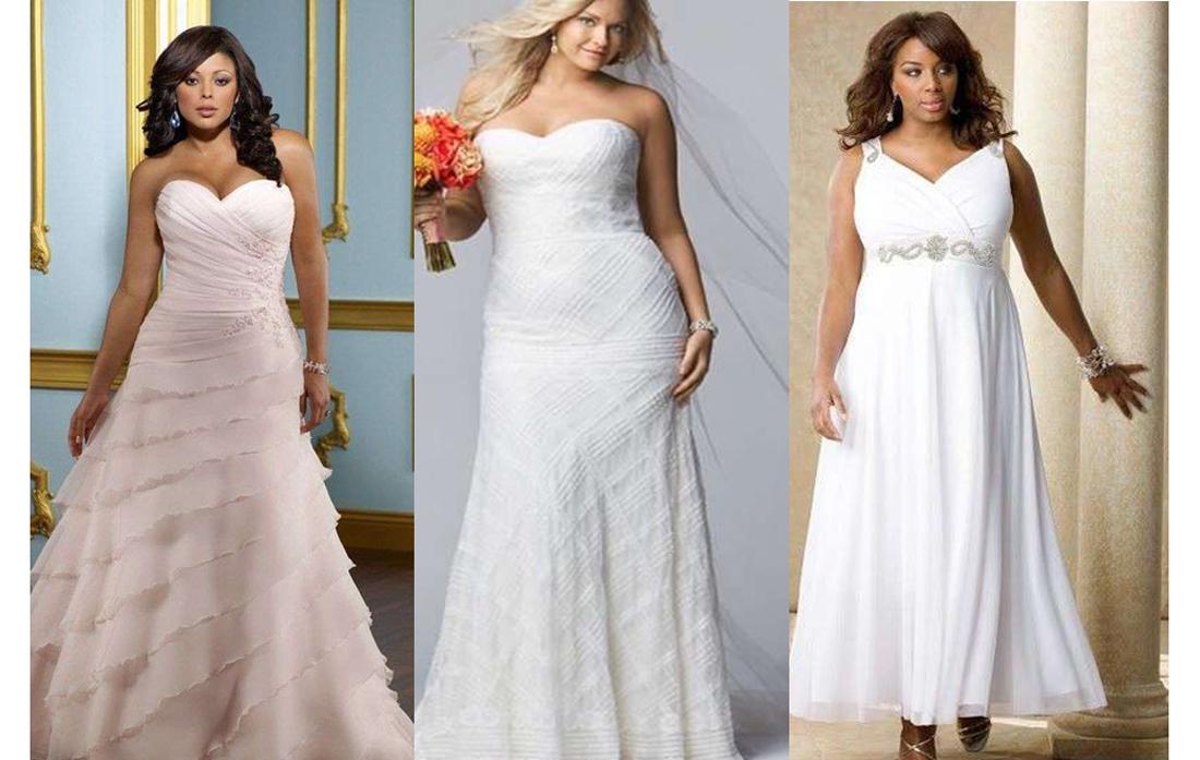 Vestidos de novia ideales para gorditas