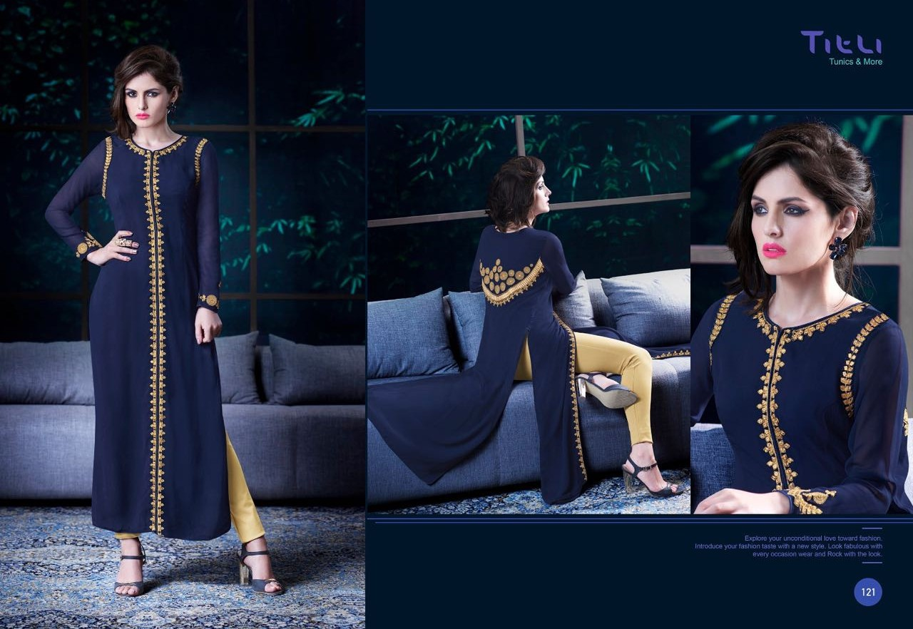 Titli – Georgette With Santoon Inner Stylish Kurti