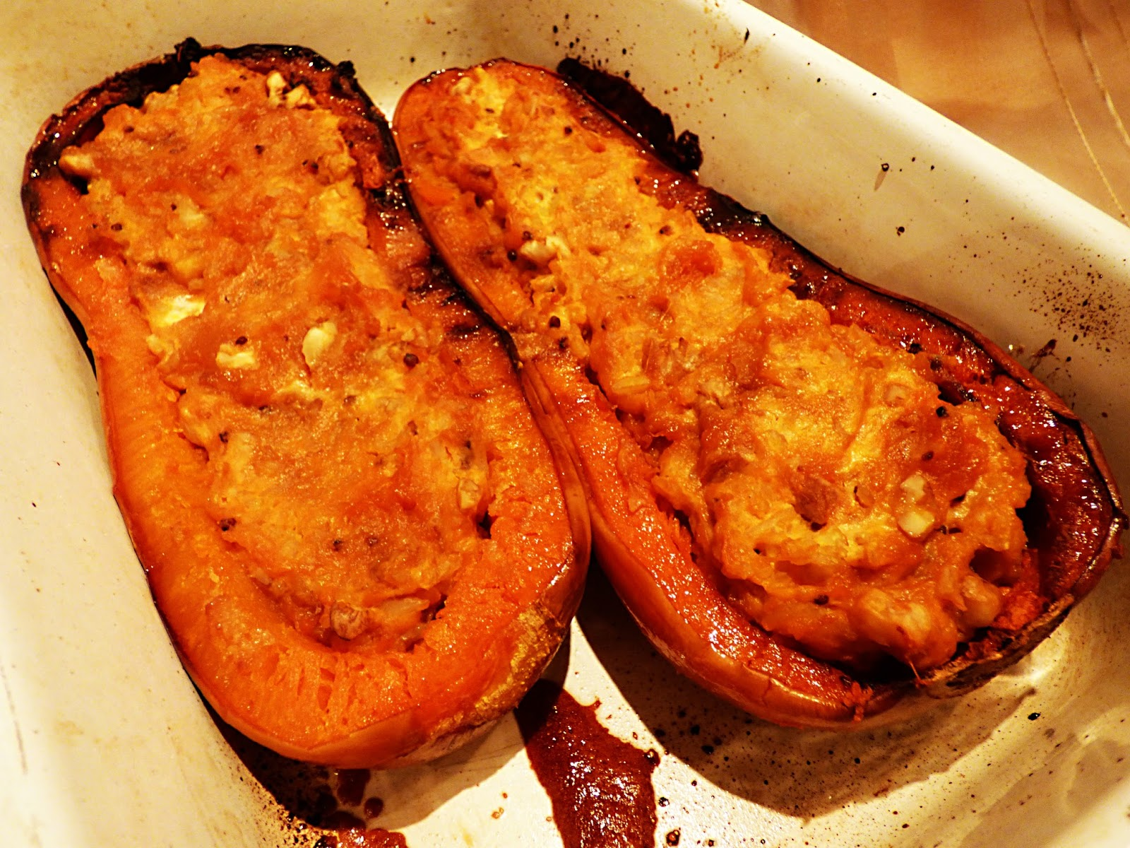 Chez Maximka: Roasted and Stuffed Butternut Squash with ...