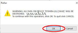 Format Flashdisk untuk memulai membuat bootable flashdisk