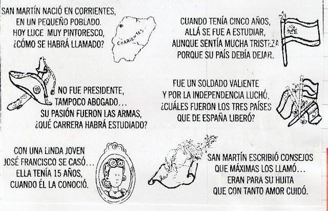 dibujos para colorear General San Martín
