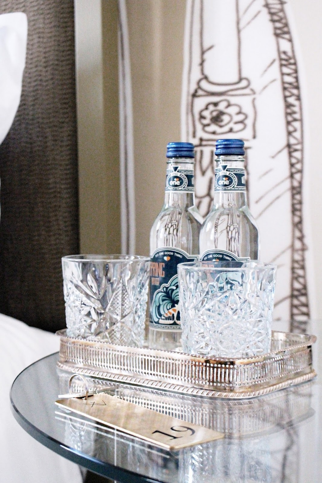 Luxurious side table hotel accessories