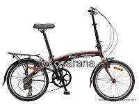Sepeda Lipat Pacific 2988-5 Rangka Aloi 20 Inci