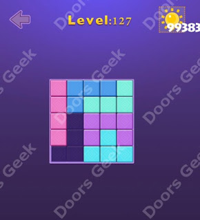 Cheats, Solutions, Walkthrough for Move Blocks Easy Level 127