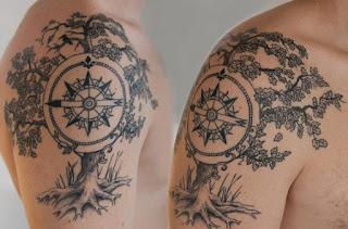 tatuaje rosa de los vientos 7