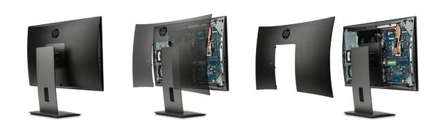 снятие крышки у HP Z1 G3