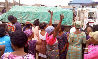 Woman crushed to death by truck in Ikorodu (Graphic photos)