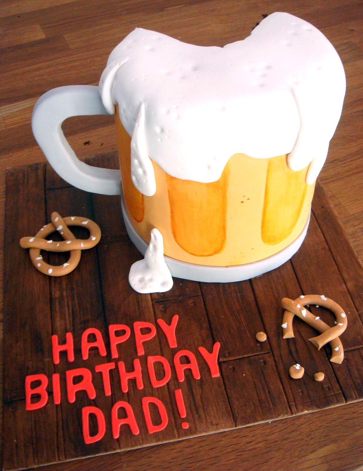 Butter Hearts Sugar Beer Mug Birthday Cake