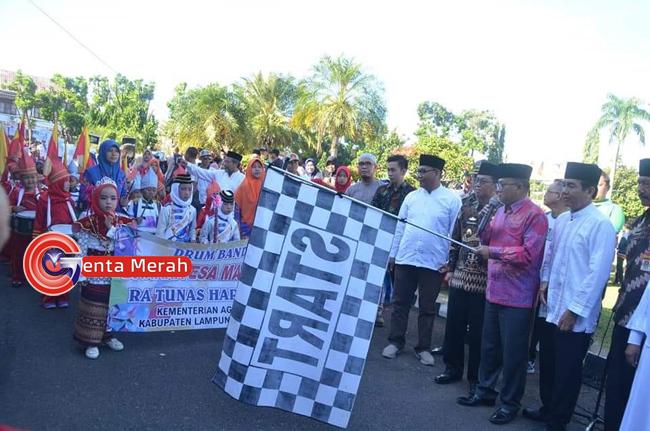 Songsong Ramadhan 1440 H, Pemkab Lampura Gelar Lomba Pawai Obor dan Drumband