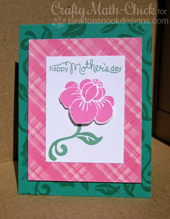 Floral Mother's Day card by Crafty Math Chick | Fanciful Florals by Newton's Nook Designs