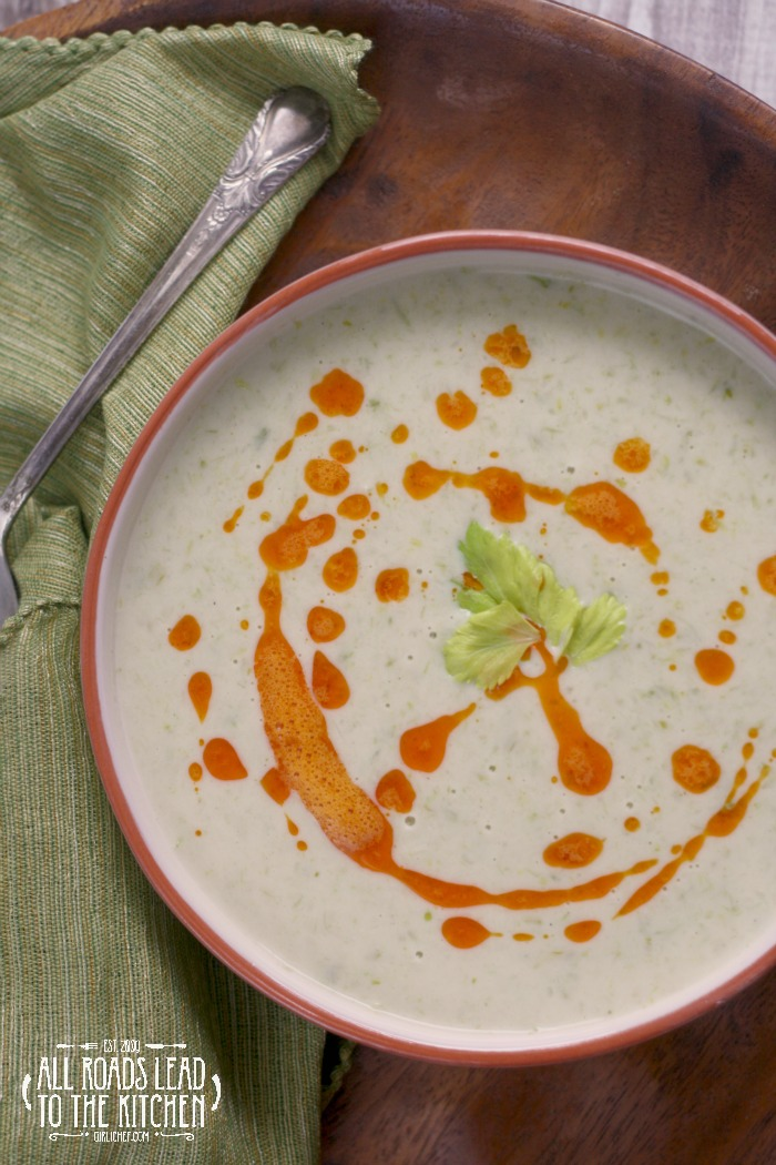 Cream of Celery Soup with Paprika Butter