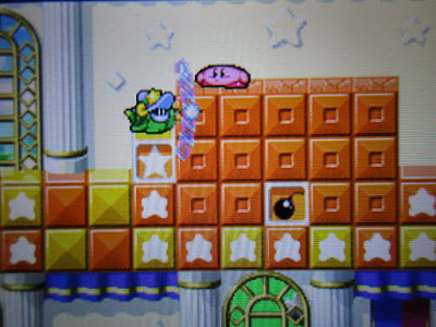 Kirby Super Star Ultra Marshmallow Mallow Castle Simirror Trial Room 1 switch puzzle Mirror ability