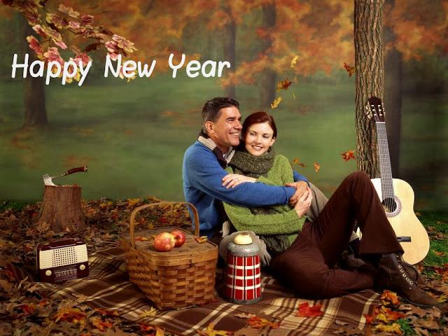 Romantic happy new year couple