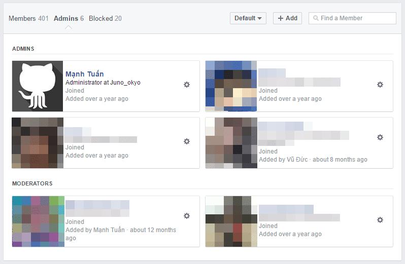 Moderator - Facebook Group