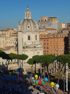 foro trajano visto visto altar da patria - Fórum de Trajano