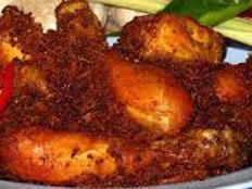 Resep praktis (mudah) ayam goreng serundeng spesial (istimewa) gurih, sedap, enak, lezat