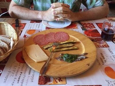 Appetizer at Rifugio Questa