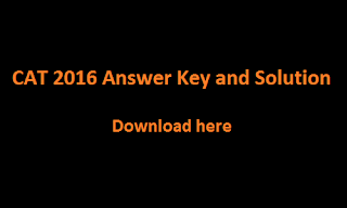 CAT 2016 Answer Key and Solution