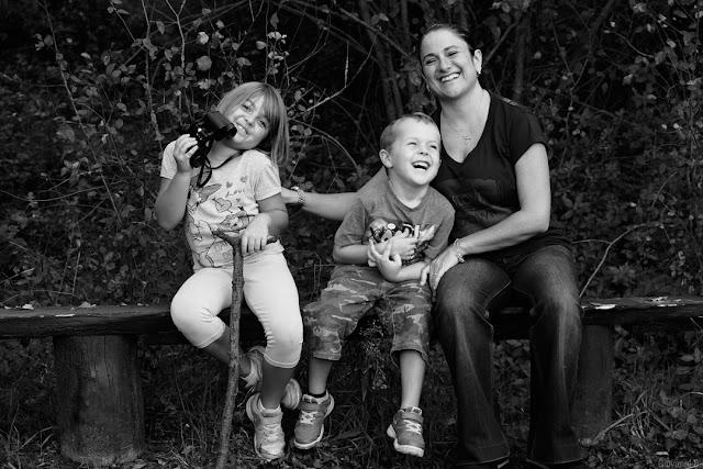 Fotografia di famiglia in bianco e nero