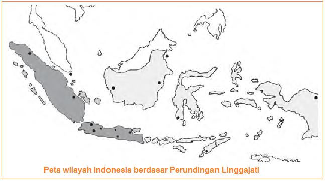 Peta wilayah Indonesia berdasar Perundingan Linggarjati
