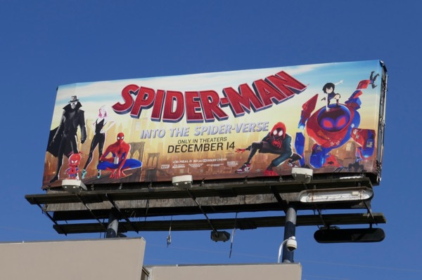 Spider-man Into Spider-verse film billboard
