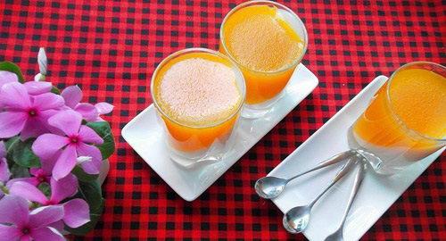 Thạch rau câu sữa dừa bí ngô