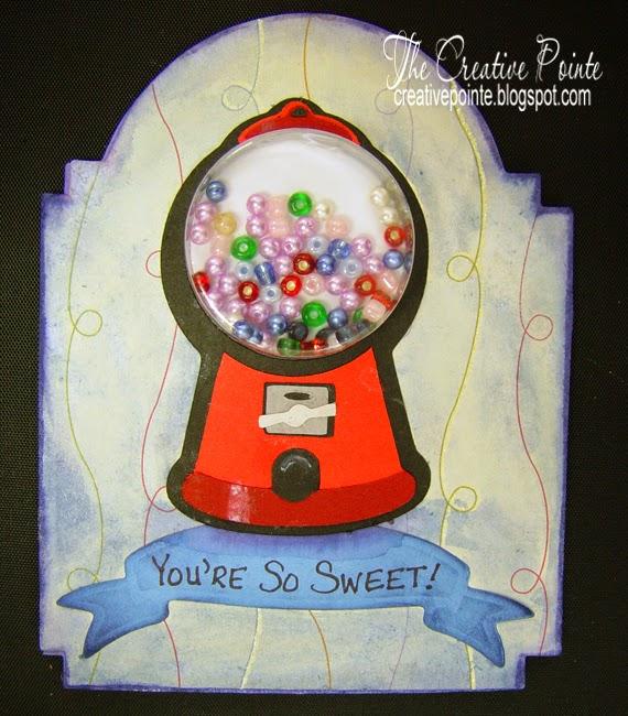 The Creative Pointe Gumball Machine Shaker Card