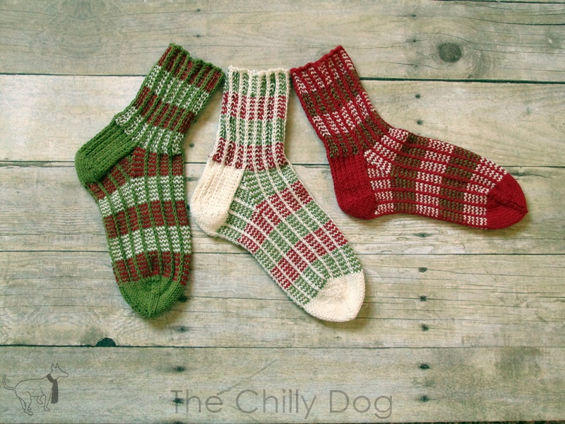 Knitting Pattern Wintermint Sock Trio The Chilly Dog