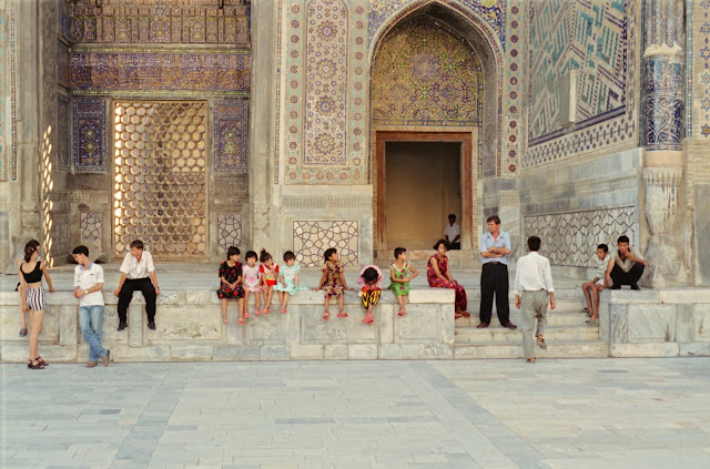 Ouzbékistan, Samarcande, Registan, Oulough Beg, © Louis Gigout, 1999