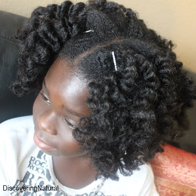 Big Sis Styles Bantu Knot Out on Natural Hair | First Time