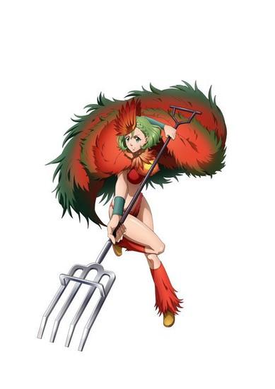 Ayane Sakura como Niwatori (Gallo), nombre real Ryoka Nika. Nacida el 6 de junio. Mata picando a sus enemigos.