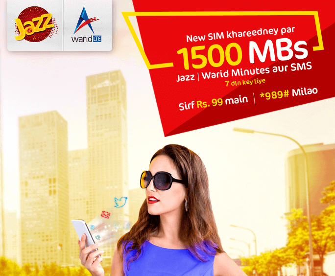 New SIM Jazz Plus Warid  Weekly Offer Free Minutes SMS Mbs