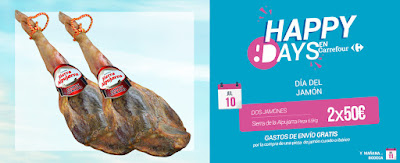 oferta jamón  happy days Carrefour