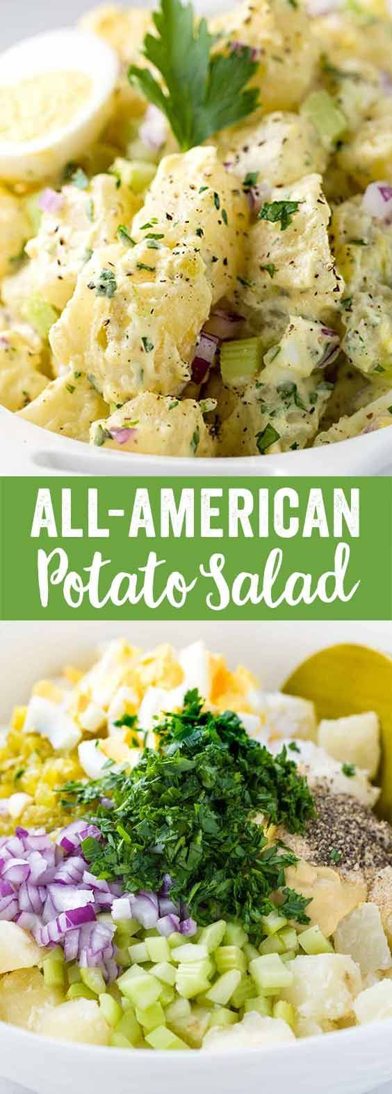 This potato salad recipe is so tasty that I used it as a base to make a healthier creamy potato salad with yogurt. No matter what variation you try, using this basic potato cooking technique will give you delicious results every time!
