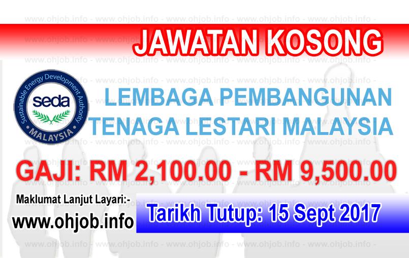 Jawatan Kerja Kosong Lembaga Pembangunan Tenaga Lestari Malaysia - SEDA logo www.ohjob.info september 2017