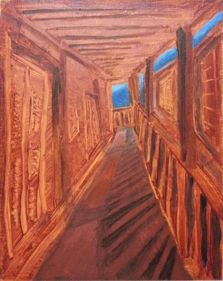 Corridor of the Hill Station, painting by Nilanjan Datta (www.indiaart.com)