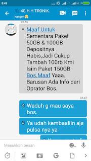 Penipuan Paket Internet 50Gb Telkomsel Harga 100Ribu Rupiah Via BBM