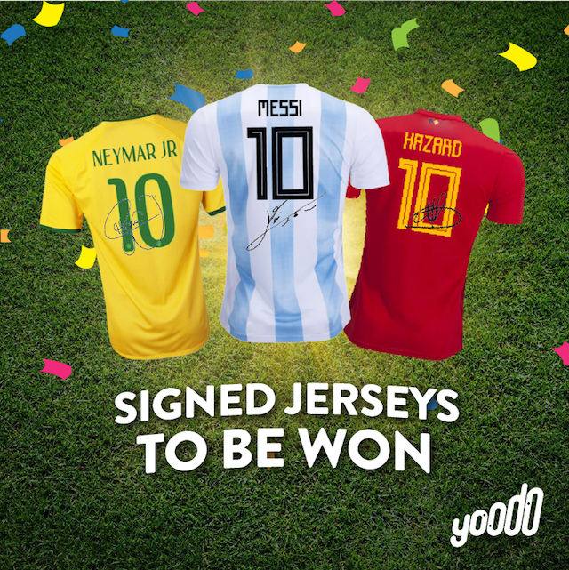 Signed Jerseys to be Won from Yoodo!