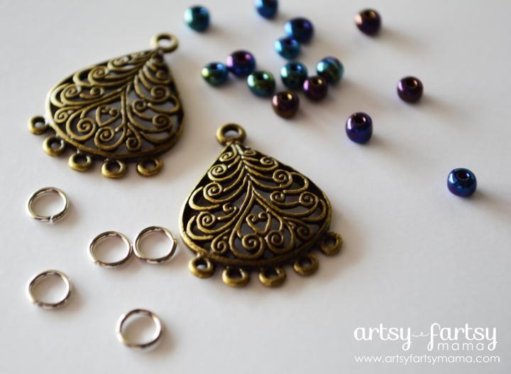 DIY Peacock Earring Supplies